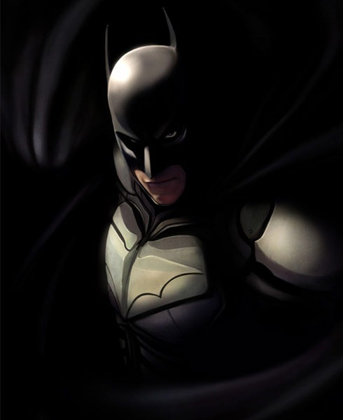 darkknight 40 Spectacular Digital Paintings And Illustrations Of Super Hero's