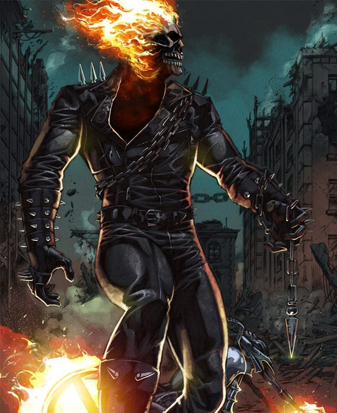 ghostrider 40 Spectacular Digital Paintings And Illustrations Of Super Hero's