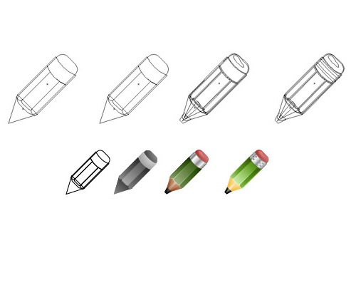 pencil 50 Illustrator Tutorials To Create High Quality Icons