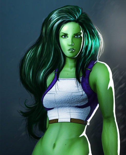 shehulk 40 Spectacular Digital Paintings And Illustrations Of Super Hero's