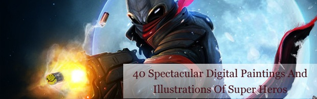 superherobanner 40 Spectacular Digital Paintings And Illustrations Of Super Hero's