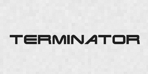 terminator 20 Free Fonts Used In Iconic Movies