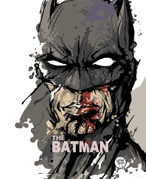 thebatman 40 Spectacular Digital Paintings And Illustrations Of Super Hero's