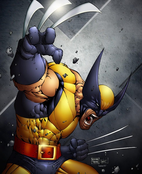 wolverineyellow 40 Spectacular Digital Paintings And Illustrations Of Super Hero's