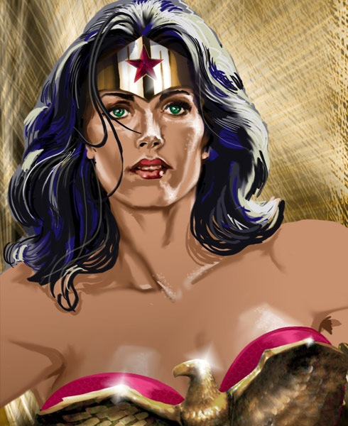 wounderwomanbig 40 Spectacular Digital Paintings And Illustrations Of Super Hero's