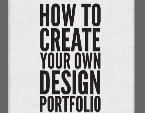howtocreateyourownportfolio 20 Free E books For Web Designers
