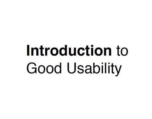 introduction-to-good-usabilty