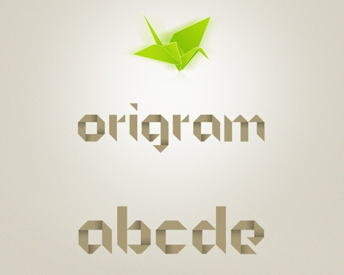 ORIGRAM Free Font Oragmi