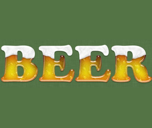 beertext 85 Best Photoshop Tutorials From 2012
