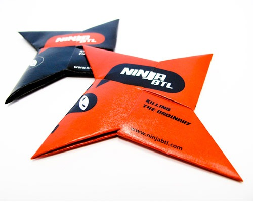 ninjabusinesscarddesign 70 Creative And Innovating Business Card Designs You Must See