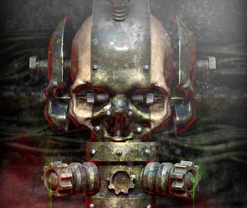 rustymetalicskull 85 Best Photoshop Tutorials From 2012