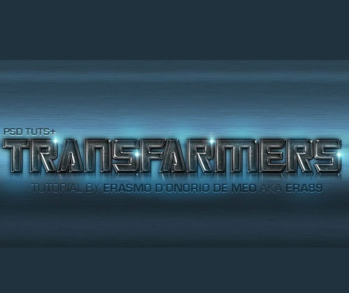 transformerstexteffect 85 Best Photoshop Tutorials From 2012