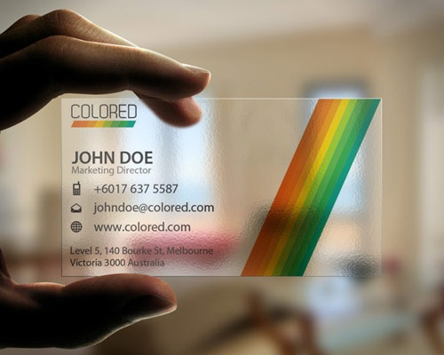 transparentbusinesscarddesign 70 Creative And Innovating Business Card Designs You Must See
