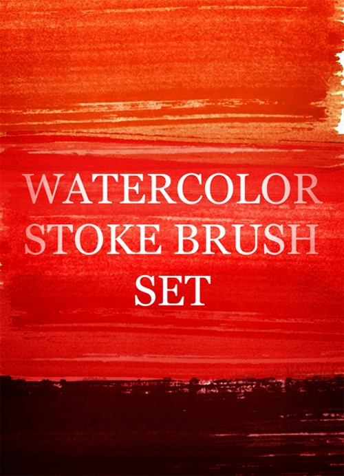 watercolorstrokesbrushset An Awesome Free Design Bundle For Designers