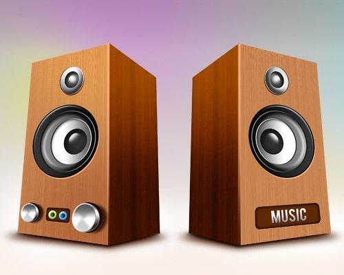 wooden-speaker-icons