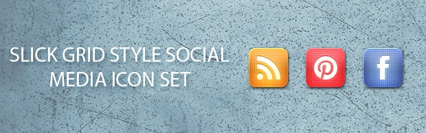 gridstylebannericonset Slick Grid Style Free Social Media Icon Set