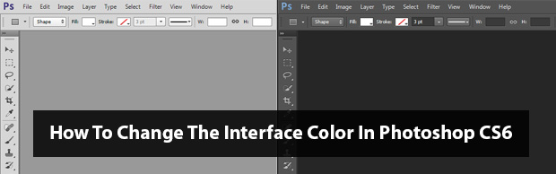 How To Change The Interface Colour In Photoshop CS6