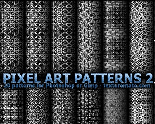 pixelartpatterns2 70 Free Photoshop Patterns The ultimate Collection