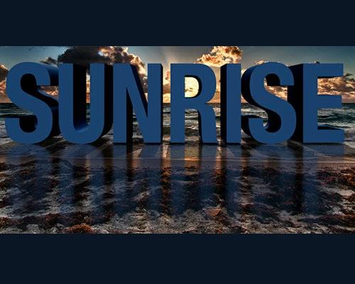 sunrise-3d-text-effect