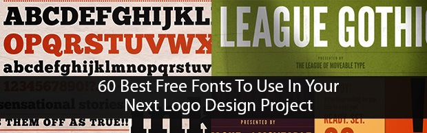 60bestfreefontslogodesignbanner 60 Best Free Fonts To Use In Your Next Logo Design Project