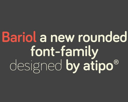 bariol 100 Best free fonts to use for creating a logo
