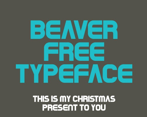beaverfreetypface1 100 Best free fonts to use for creating a logo