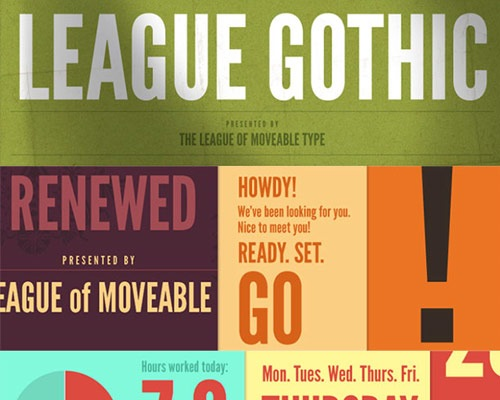 leaguegothic 100 Best free fonts to use for creating a logo