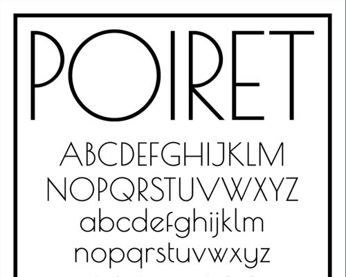 poiret 100 Best free fonts to use for creating a logo