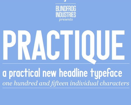 practiqe 100 Best free fonts to use for creating a logo
