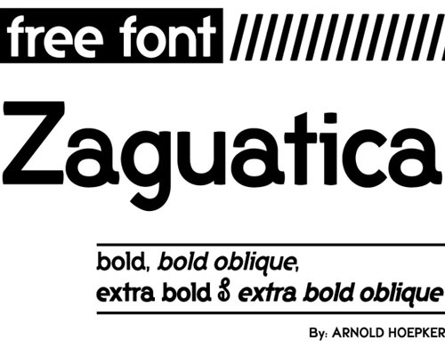 zaguatica 100 Best free fonts to use for creating a logo
