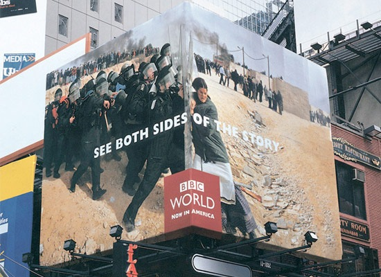 bothsidesofthestory 30 Extremely Creative Billboard Designs