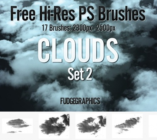 cloudphotoshopbrushes 50 Phenomenal Free Photoshop Brush Sets Every Designer Should Have