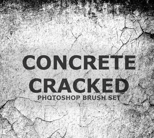 concretecrackedbrush 50 Phenomenal Free Photoshop Brush Sets Every Designer Should Have