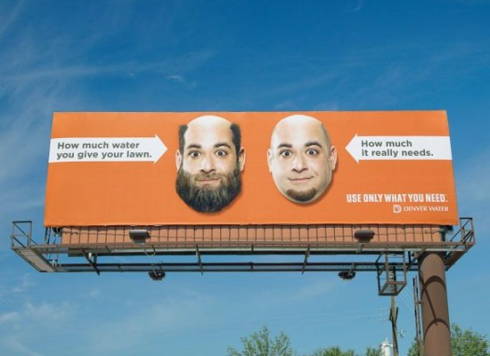 denverwaterbeared 30 Extremely Creative Billboard Designs