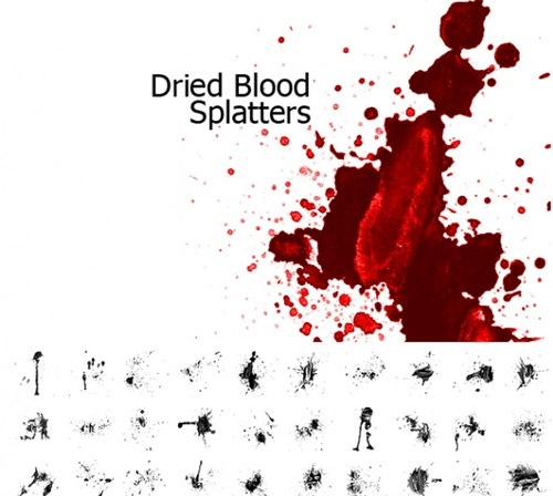 driedbloodsplatters 50 Phenomenal Free Photoshop Brush Sets Every Designer Should Have