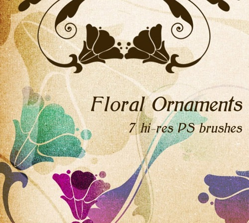 floralornaments 50 Phenomenal Free Photoshop Brush Sets Every Designer Should Have
