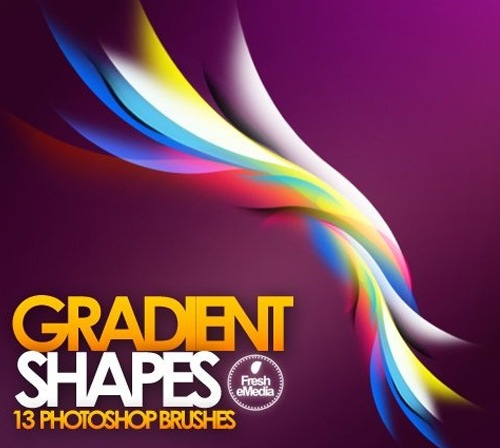 gradientshapebrushes 50 Phenomenal Free Photoshop Brush Sets Every Designer Should Have