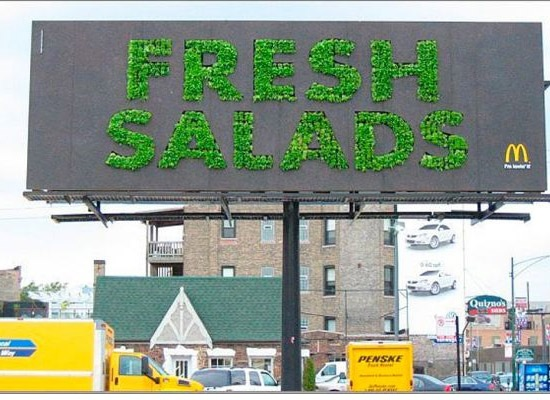 mcdonaldsfreshsaladbillboard 30 Extremely Creative Billboard Designs