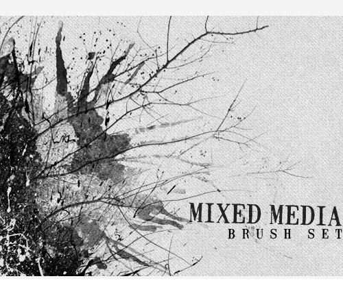 mixedmediabrushset 50 Phenomenal Free Photoshop Brush Sets Every Designer Should Have