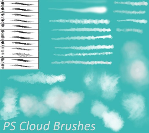 pscloudbrushes 50 Phenomenal Free Photoshop Brush Sets Every Designer Should Have
