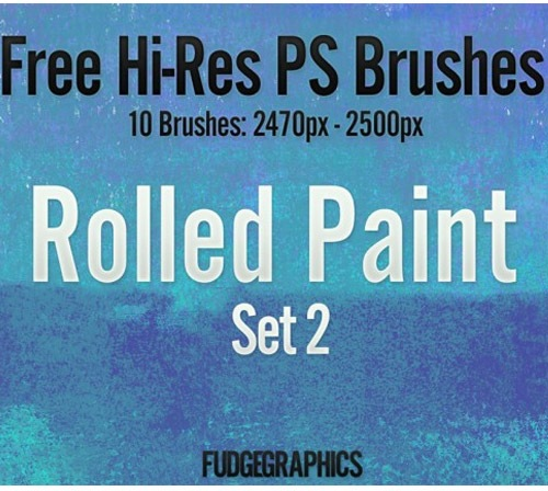 rolledpaint 50 Phenomenal Free Photoshop Brush Sets Every Designer Should Have