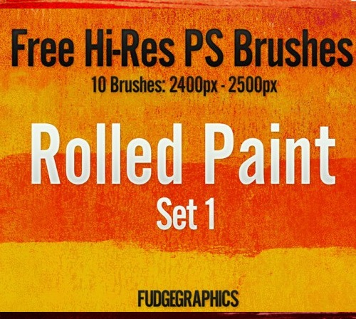 rolledpaintbrush 50 Phenomenal Free Photoshop Brush Sets Every Designer Should Have