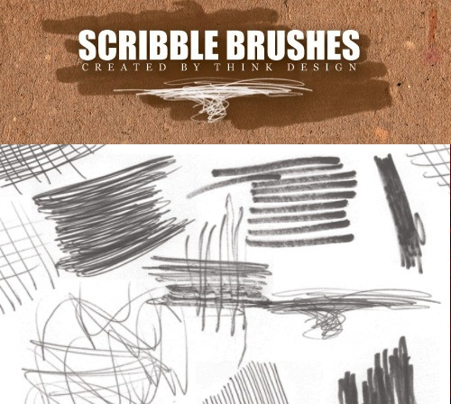 scribblebrushes 50 Phenomenal Free Photoshop Brush Sets Every Designer Should Have