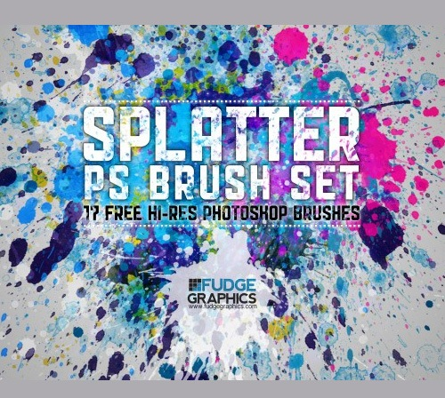 splatterpsbrush 50 Phenomenal Free Photoshop Brush Sets Every Designer Should Have