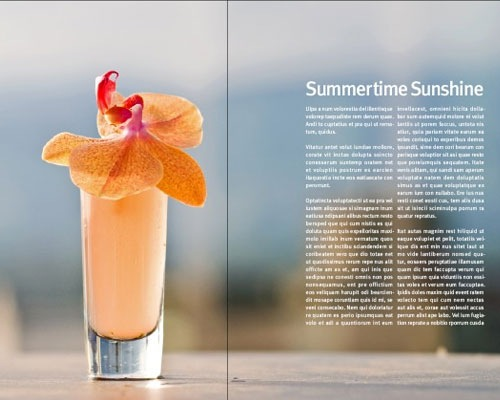 summertimesunshinemagazineindesigntutorial 35 Tutorials For Learning And Mastering Indesign