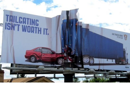tailgatingisntworthit 30 Extremely Creative Billboard Designs