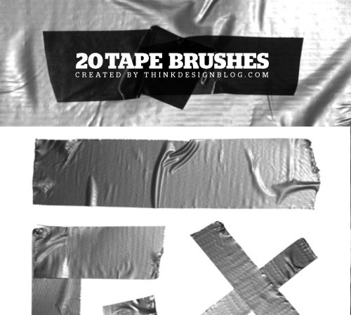 tapebrushes 50 Phenomenal Free Photoshop Brush Sets Every Designer Should Have