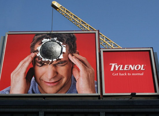 tylenol 30 Extremely Creative Billboard Designs