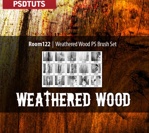 weatherwoodbrushes 50 Phenomenal Free Photoshop Brush Sets Every Designer Should Have
