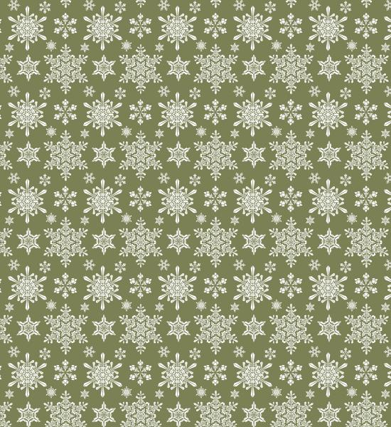 green-snowflake-pattern